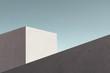 Leinwanddruck Bild - minimal modern architecture building