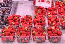 Strawberries On Sale To The Gr...