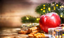 Rustic Christmas Background Wi...