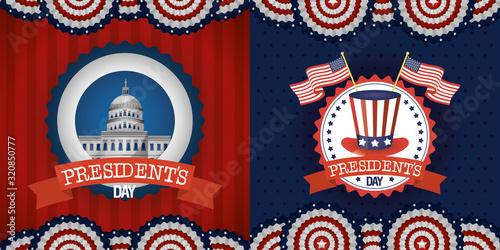 Fotografie, Obraz bundle of presidents day two emblems
