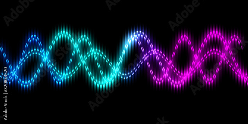 Photo Sound wave line multicolor music abstract background