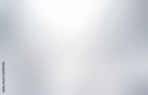 Fototapeta Shiny silver plain background. Smooth metallic light blur texture. Flare and shades abstract illustration. obraz