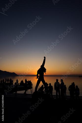 Freddie Mercury Statue Sunster Montreux Fototapete