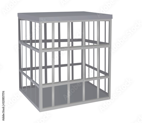 Cage metal bars. vector illustration Canvas Print
