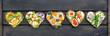 Leinwanddruck Bild - bunt belegte Brote