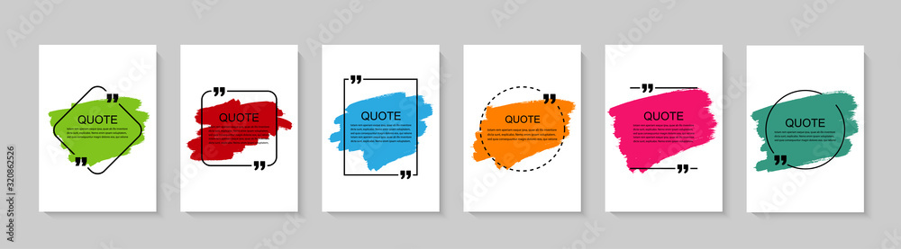 Fototapeta Inspirational quote for your opportunities. Speech bubbles with quote marks. Vector illustration