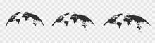 World Map Globe. Vector Illustartion