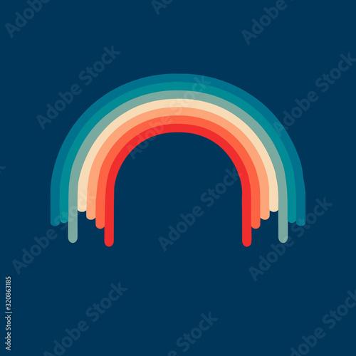 Retro rainbow Canvas-taulu