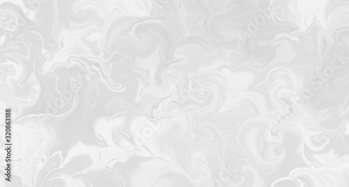 Abstract white background with marbled texture pattern in elegant fancy design, Wallpaper Mural