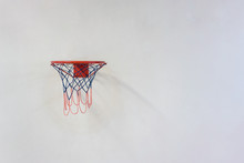 Basketball Hoop Hanging On Gru...