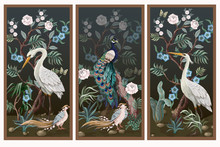 Folding Screen In Chinoiserie ...