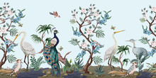 Border In Chinoiserie Style Wi...