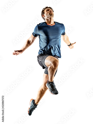 mata magnetyczna runner running jogger jogger young man isolated white background