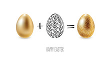 Easter Eggs, Happy Easter. Vec...