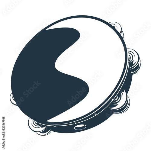 Carta da parati Vector illustration of Tambourine