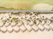 Aerial View Of A Wooden Walkway, Sao Felix Da Marinha, Portugal
