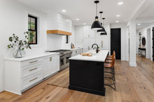 Beautiful White Kitchen With D...