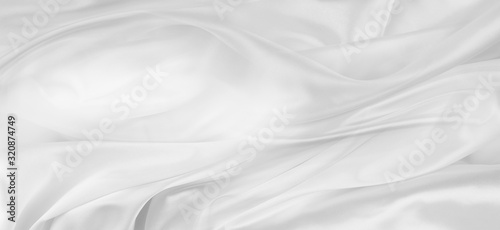 Valokuva White silk fabric lines