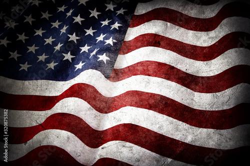 Cuadros en Lienzo Grunge American flag