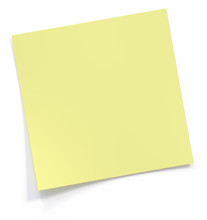 Yellow Post It Note 3d Rendering