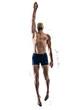Leinwanddruck Bild - man sport swimmer swimming isolated white background