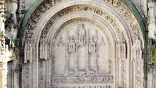 Medieval Castle Door. Engraved With Drone. Iglesia / Castillo Grabada Con Drone