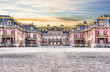 Leinwanddruck Bild Medieval Versailles palace outside Paris at sunset, France