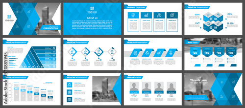 Presentation templates, corporate Canvas Print