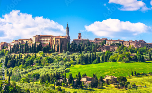 mata magnetyczna Tuscany, Pienza medieval village. Siena, Val d Orcia, Italy