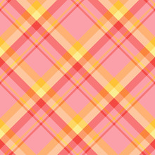Seamless Pattern In Excellent Pink, Red, Orange And Yellow Colors For Plaid, Fabric, Textile, Clothes, Tablecloth And Other Things. Vector Image. 2