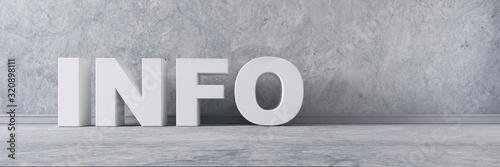 Fototapeta Info - Text vor Wand mit Steintextur  - Leerfläche rechts obraz