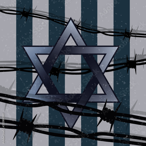 Fotografia International Holocaust Remembrance Day vector, January 27