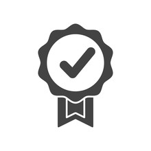 Quality Guarantee Icon In Styl...