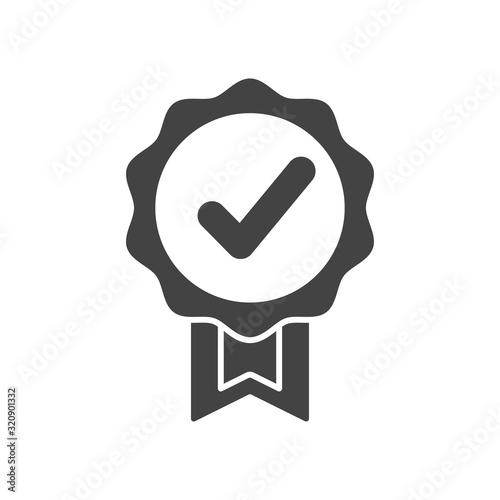 Fototapeta Quality guarantee icon in style design