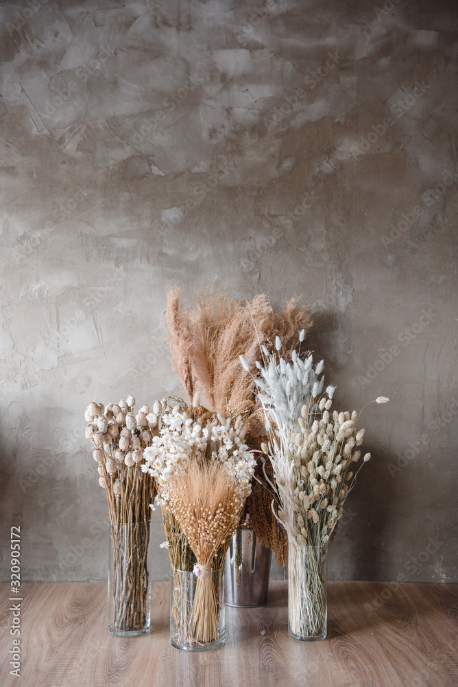 Fototapeta dried flowers in a vase