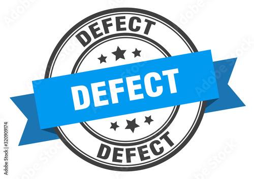 defect label. defectround band sign. defect stamp Fototapet