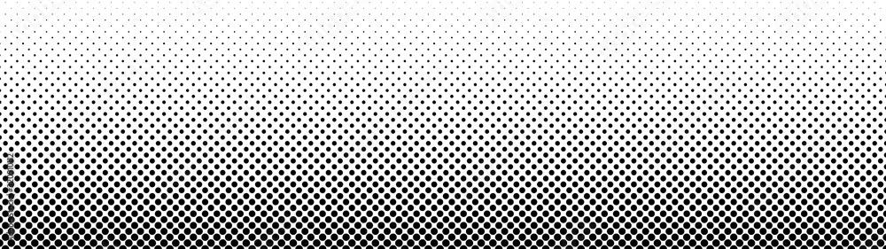 Fototapeta Gradient halftone. Abstract gradient background of black dots. Vector illustration.