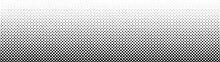 Gradient Halftone. Abstract Gradient Background Of Black Dots. Vector Illustration.