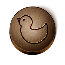 Brown Line Rubber Duck Icon Is...