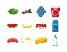 Bundle Of Nutritive Healthy Food