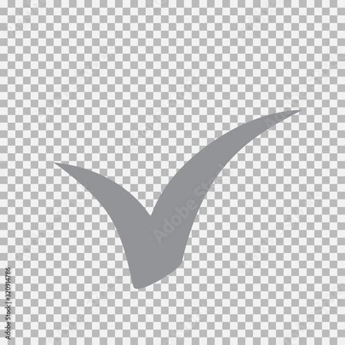Fotografía Checkmark icon. Vector symbol on white background.