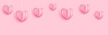 Pink Hearts Paper Craft Cut Ou...