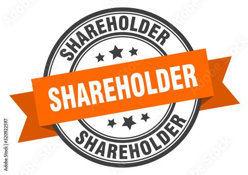 Fotomural shareholder label. shareholderround band sign. shareholder stamp