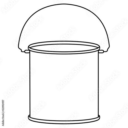 Obraz na plátne icon of bucket