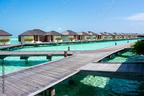Photo Maldive, north Male atoll - December 28 2019 - The beautiful water villas in the