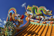 Dragons On Temple Roof Keelung
