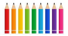 Colorful Pencils Isolated On W...