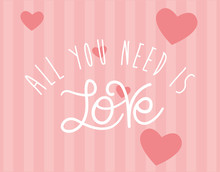 All You Need Is Love Text Vect...