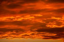 Dramatic Orange Clouds