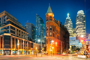 Toronto downtown by sunrise